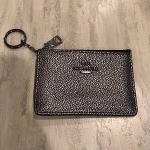 Coach Mini Skinny ID Case Gunmetal Silver